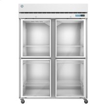 F2A-HG, Freezer, Two Section Upright, Half Glass Doors with Lock