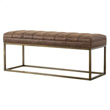 Darius PU Bench, Nubuck Chocolate