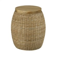 RATTAN ROUND END TABLE