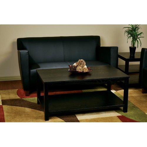 "Merge 42"" Rectangular Cocktail Table (black)"