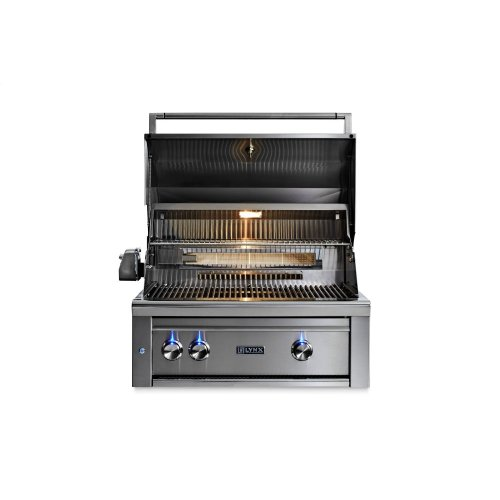"""30"""" Lynx Professional Built In Grill with 1 Trident and 1 Ceramic Burner and Rotisserie, LP"""
