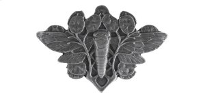 Cicada on Leaves - Antique Pewter Product Image