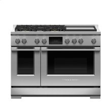 "Dual Fuel Range, 48"", 5 Burners with Griddle,LPG"