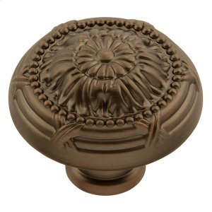 Ribbon & Reed Knob - Sherwood Antique Brass Product Image