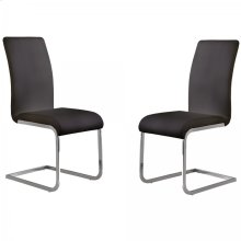 Amanda Black Side Chair (Set Of 2)