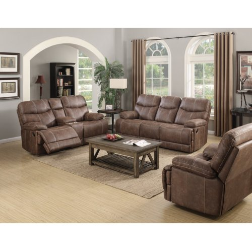 Emerald Home Earl Motion Love W/console Sanded Micro Brown U7128-09-25