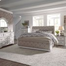 King Uph Sleigh Bed, Dresser & Mirror, Chest, NS Product Image