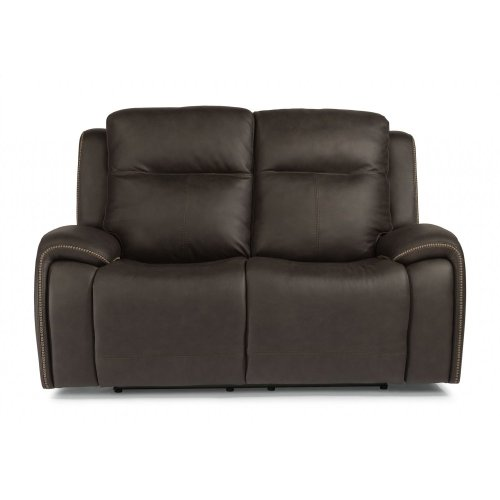 Solo Leather Power Reclining Loveseat with Power Headrests