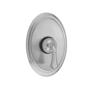 Antique Brass - Oval Plate With Standard Lever Trim For Pressure Balance Valve (J-PBV) Product Image
