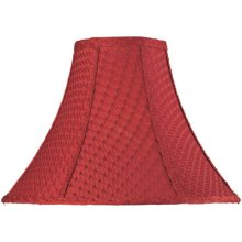"Red Woven Bell Shade - 6""tx16""bx12""sh"