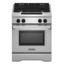 30-Inch 4-Burner Dual Fuel Freestanding Range, Commercial-Style - Stainless Steel