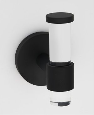 Acrylic Contemporary Robe Hook A7281 - Matte Black Product Image