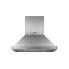 """Heritage 36"""" Chimney Island Hood, Silver Stainless Steel Product Image"""