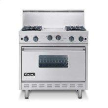 """Apple Red 36"""" Sealed Burner Range - VGIC (36"""" wide range with four burners, 12"""" wide griddle/simmer plate, single oven)"""