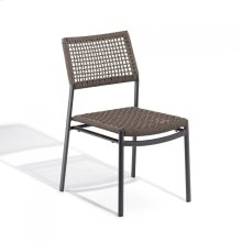 Eiland Side Chair - Carbon, Mocha Composite Cord Seat/Back