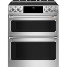 """Café 30"""" Smart Slide-In, Front-Control Induction and Convection Double-Oven Range"""
