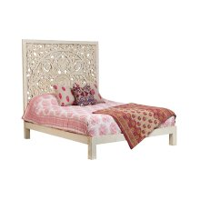 Bali Queen Bed - White, SB-CBD-W