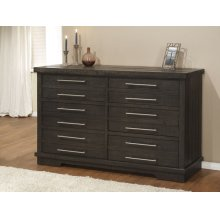 Waterfront 6 Drawer Dresser, Grey