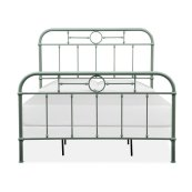 Complete Queen Metal Bed - Green