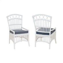 Rattan Veranda Chair In White (Set of 2)