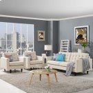 Empress Sofa and Armchairs Set of 3 in Beige Product Image