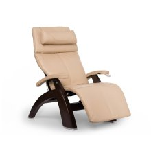 Perfect Chair PC-420 Classic Manual Plus - Ivory Premium Leather - Dark Walnut