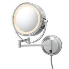 Chrome Double-Sided LED Lighted Mirror