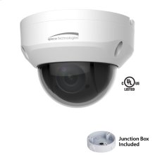 2MP 4X Mini-PTZ IP Camera with Junction Box, 2.7-11mm 4x Optical Zoom, White Housing