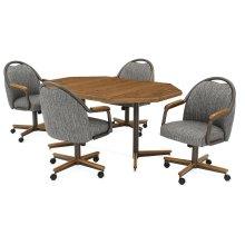 Table Base: Twin Legs (chestnut & bronze)