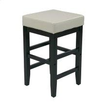 "25"" Square Barstool With Espresso Legs"