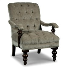 Tufted Wood Accent Chair