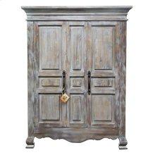 2 Door Old Grey Armoire