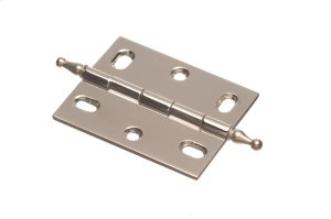 "2 1/2"" x 2"" Mortised Hinge/Minaret Tip - Polished Nickel Product Image"