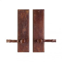 """Stepped Passage Set - 3 1/2"""" x 13"""" Silicon Bronze Brushed"""