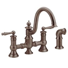 Waterhill oil rubbed bronze two-handle kitchen faucet
