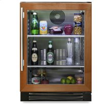 24 Inch Overlay Glass Door Undercounter Refrigerator - Left Hinge Overlay Glass