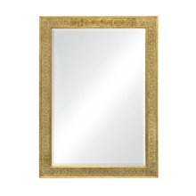 Rectangular mirror with eglomise gilt borders