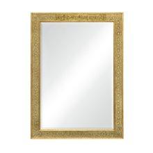 Rectangular mirror with eglomise gilt borders