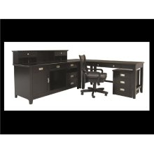 """Teton Bookcase Cabinet, Black, 45""""x16""""x23"""",Overall 46""""x17""""x30"""""""