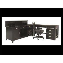 "Teton Bookcase Top&Base Panel, Black, 46""x16.5"""