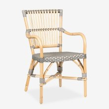 (LS) Ria Bistro Outdoor Arm Chair - Grey/Natural..