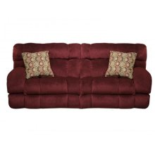 Power Console Loveseat with Lay Flat Recliners in Wine