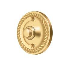 Bell Button, Round Rope - PVD Polished Brass