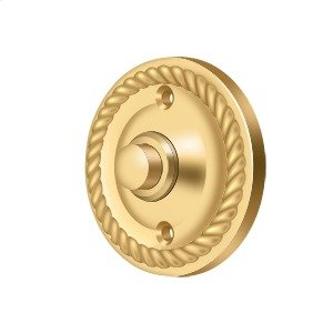 Bell Button, Round Rope - PVD Polished Brass Product Image
