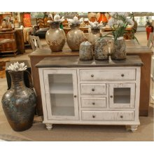 Antique White Console