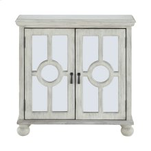 Accent Chest with Mirror Door-Antique White, 3A