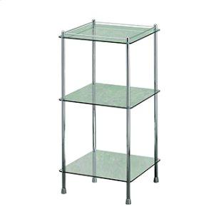 Essentials Freestanding Three Tier Glass Shelf Unit Product Image