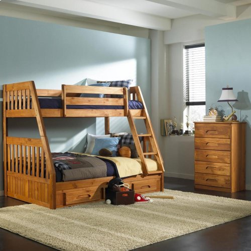 Twin/Full Mission Bunkbed