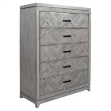 5 Drawer Chest, Available in Rustic Grey or Rustic White Finish.