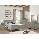 5PC Louis Philip Grey Bedroom Suite Product Image